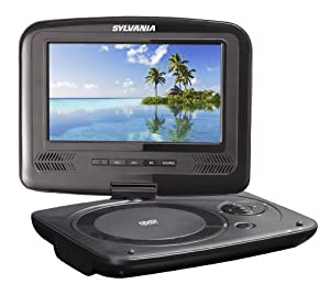 Sylvania 7-inch Portable Dvd Player Swivel Screen Usb/sd Card Reader With 4 Hour Rechargeable Battery And Car Bag