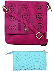 SRI Imported Fancy Designer Combo Of Handbag With Clutch For Girls And Women - B01JZ3U8L8