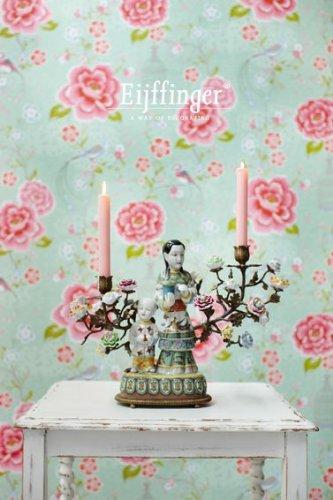 Pip Tapete Cherry Blossom : PiP Studio Tapete BIRDS IN PARADISE gr?n / green 0,53 x 10 m