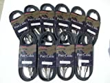 6ft (10 Pack) Kirlin Pro Cable IP-201PR 1/4 Instrument Cable 20awg, Audio, Speaker, 3 Yr. Warranty