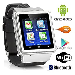 Indigi Android 4.4 Smart Watch Phone Mini Tablet PC w/ WiFi Bluetooth Google Play Store - GSM Unlocked (US Seller)