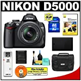 Nikon D5000 Digital SLR Camera w/ 18-55mm VR Lens + 8GB Memory Card + Spare EN-EL9 Battery + Case + Cameta Bonus Accessory Kit