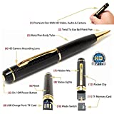 #2: Spy Hd Pen Camera With Voice-Video Recorder And Dvr-Hidden-Camcorder(16Gb),Black And Golden