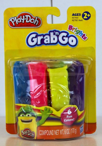 Play Doh Classic Grab 'N Go Brights- 6 Fun Colors - 1