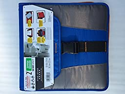 Mead 2 Five Star Zipper Binder 580 Sheet Capacity with Durable Shoulder Carrying Strap