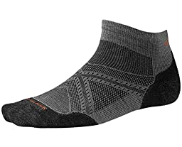 Smartwool PhD Run Light Elite Low Cut Socks (Graphite) Large