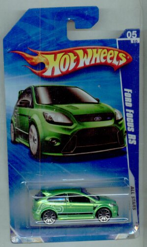 Hot Wheels 2010-123/240 All Stars 05/10 GREEN Ford Focus RS 1:64 Scale - 1