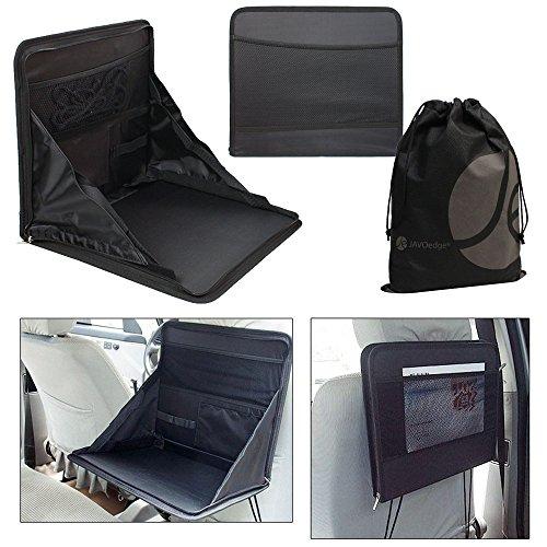 javoedge black back car seat foldable laptop desk food tray with mesh pocket plus bonus. Black Bedroom Furniture Sets. Home Design Ideas