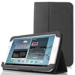 MoKo(TM) Slim Folding Cover Case for Samsung Galaxy Tab 3 8.0 Inch SM-T3100 / SM-T3110 Android Tablet, BLACK (with Smart Auto Wake / Sleep Feature)