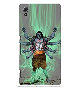 Angry Lord Shiva 3D Hard Polycarbonate Designer Back Case Cover for Sony Xperia Z4