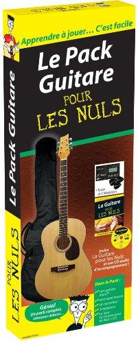 Le pack guitare pour les nuls, Livre + 1 guitare Kona, 1 housse, 1 accordeur, 3 médiators, 1 CD audio