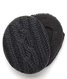 Sprigs Womens Cableknit Earbags Size Medium (Black)