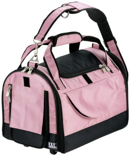 Pet Gear World Traveler Tote For Cats And Dogs Up To 18-Pound, Pet Carrier, Large, Crystal Pink