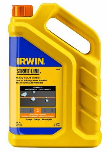 IRWIN Tools STRAIT-LINE Standard Marking Chalk, 5-pound, Fluorescent Orange (65105)