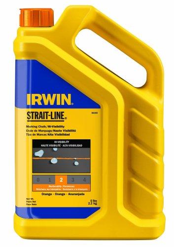 IRWIN Tools STRAIT-LINE Standard Marking Chalk, 5-pound, Fluorescent Orange (65105)