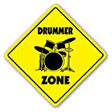 51tYCNEjuWL. SL160  DRUMMER ZONE   Sign   drum sticks musician band gift