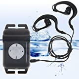 Walsoon WS531 Waterproof Underwater 4GB MP3 Music Player+FM Radio for Swimming (Black)