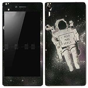 Theskinmantra I Need more space Lenovo Vibe Shot mobile skin