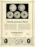 1928 Ad Josiah Wedgwood & Sons Inc Queensware Pottery Queen Charlotte Floral - Original Print Ad