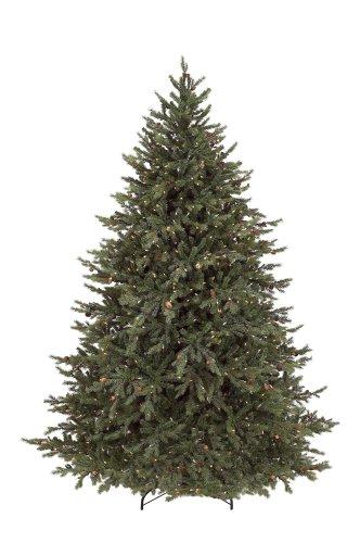 Gki Bethlehem Lighting 7-1/2-Foot Pe/Pvc Pre-Lit Christmas Tree With 850 Clear Mini Lights , Hunter Fir