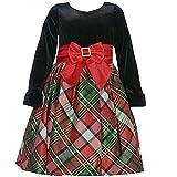 Bonnie Jean Little Girls' Plaid Velvet Dress
