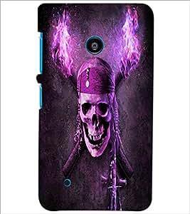 PrintDhaba Pirate Skull D-4844 Back Case Cover for NOKIA LUMIA 530 (Multi-Coloured)