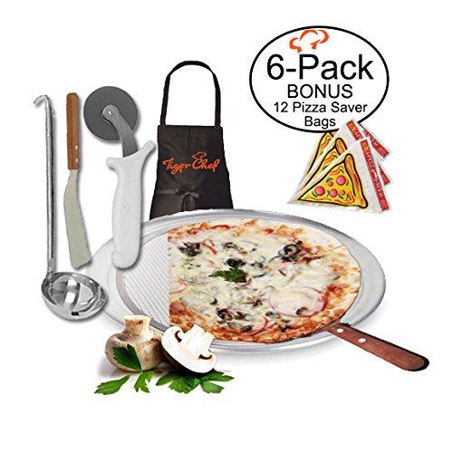 TigerChef TC-20416 Homemade Pizza Making Kit, 6-Piece Pizza Pro Set,