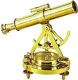Benzara 28147 Brass Telescope Compass Feel The Distant Objects Nearer