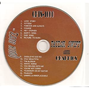 All Hits of TAYLOR SWIFT Quik Hitz Karaoke CDG  QHTS-1000