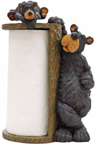 Willie Black Bear Paper Towel Holder  image