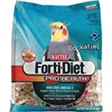Kaytee Forti Diet Pro Health Food with Safflower for Cockatiels, 5-Pound Bag Reviews