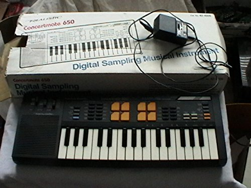 Realistic Concertmate 650 Digital Sampling Musical Instrument Keyboard Vintage