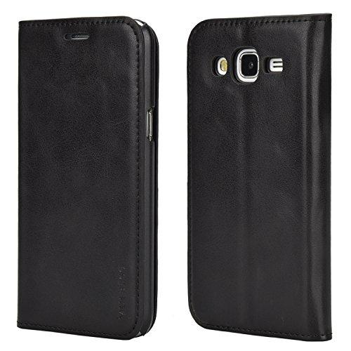 Mulbess-Ledertasche-im-Stnder-Book-Case-fr-Samsung-Galaxy-J5-2015-Tasche-Hlle-Leder-EtuiSchwarz