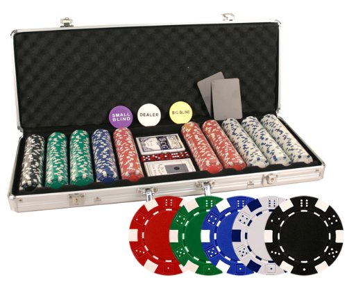 Great Deal! Da Vinci 500 Poker Set with Chips, Case, Dealer Buttons, Cards, Cut Cards, and Dice