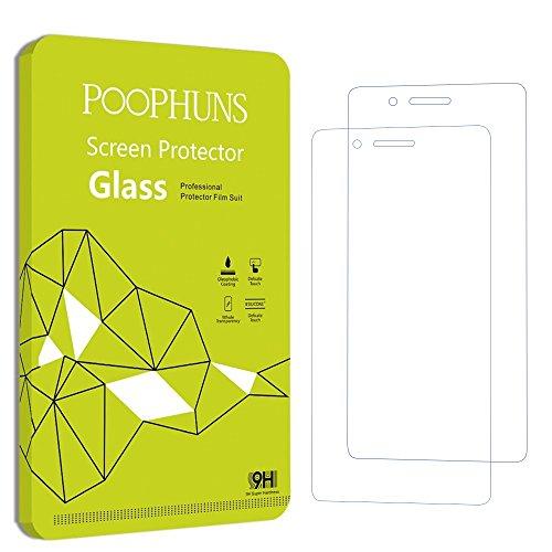 POOPHUNS Huawei P9 lite Protector de Pantalla, 2-Pack, Vidrio Cristal Templado Premium para Huawei P9 lite, Ultra Resistente a Golpes y Rayado, Alta Transparencia, Sin burbujas