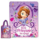 Disney Sofia The First, Princess Class Micro Raschel Throw and Reusable Tote Set, 40 by 50-Inch
