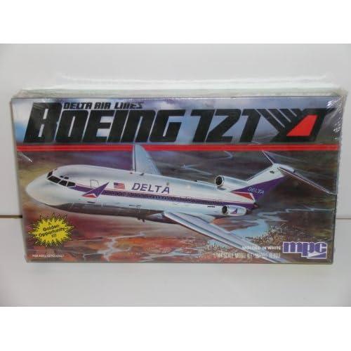 "Amazon.com: MPC ""Delta Airlines Boeing 727"" Plastic Model Kit"