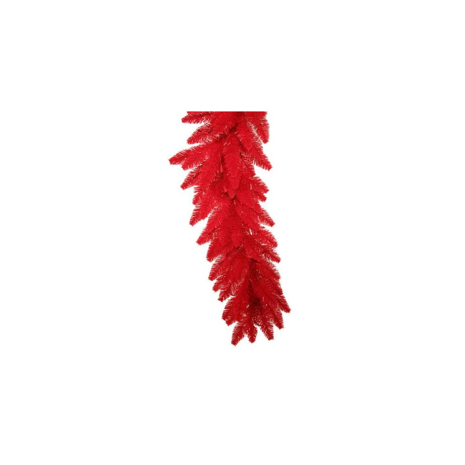 Pack of 2 Pre Lit Red Ashley Spruce Christmas Garlands 9