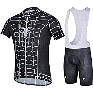 CHEJI 2014 Spiderman Designs Men's Cycling bib Short Sets Outdoor Wearing Halloween Wearing (XL-Extre large)
