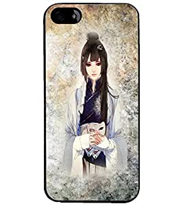 PrintDhaba Cute Girl D-2753 Back Case Cover for APPLE IPHONE 5S (Multi-Coloured)