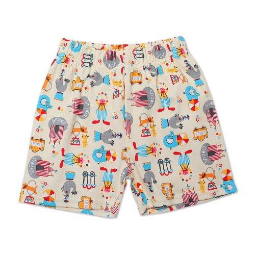 Zutano Baby-boys Infant Le Cirque Shorts, Cream, 6 Months