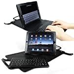 iGADGET® IG1000 iPad 3 and iPad 2 Leather Case with Detachable Bluetooth Keyboard - Black