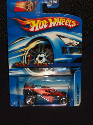Hot Wheels 2006 196 Red Shock Factor on FTE Wheels - 1