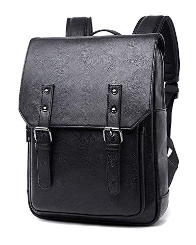 Zicac zaino Unisex casual e alla moda Laptop Backpack PU zaino studenti Weekender Daypack Borsa per Outing Esterni , viaggio