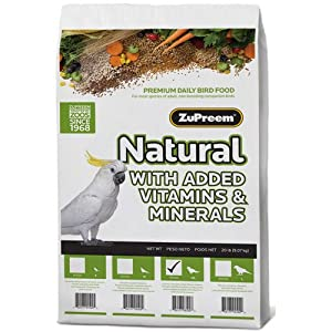 Zupreem Avianmaintenance Natural Bird Diet for Parrots & Conures