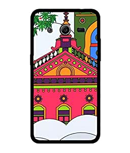 Chnno 2d India circus Printed Back Cover For Samsung Galaxy Core 2