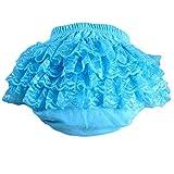 Lisianthus002 - Bermudas - para bebé niña Azul azul