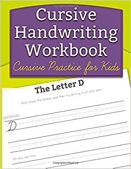 cursive handwriting workbook cursive practice for kids handwriting workbooks for. Black Bedroom Furniture Sets. Home Design Ideas
