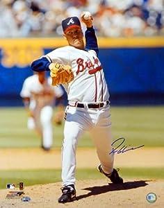 Tom Glavine Autographed 16x20 Atlanta Braves Photo Front View PSA DNA