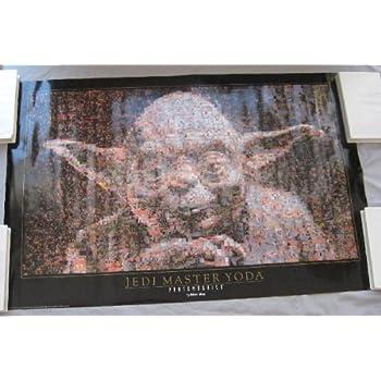 Yoda Jedi Master Photomosaic Star Wars poster 1997 vintage